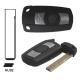 Telemando llave fija de 3 botones para BMW con espadín perfil HU92.Transponder ID46 (PCF7942).Frecuencia 868Mhz.
