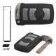 Telemando llave fija de 4 botones para BMW con espadín perfil HU92.Transponder ID46 (PCF7942).868MHz.Sistemas CAS1.Serie7.