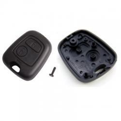 Carcasa llave fija 2 botones para  CITRÖEN C2, C3.