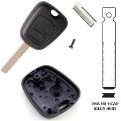 Carcasa llave fija 2 botones para CITROËN C5, C4, PICASSO, JUMPY, C8.