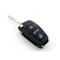Carcasa llave para mando plegable 3 botones modelos AUDI® A8,A6,A4,A3 Y TT.