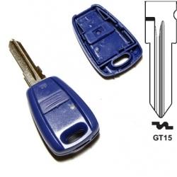 Carcasa llave fija 1 botón para FIAT BRAVA, BRAVO, CINQUENCENTO, MAREA, MARENGO, SEICENTO, TEMPRA.