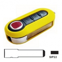 Carcasa amarilla plegable 3 botonesFIAT 500 3 botones.