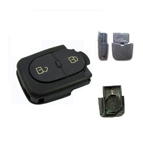 Carcasa inferior llave mando plegable 2 botones(redonda) modelos tipo VAG pila 2032 ( grande): AUDI,SEAT, SKODA Y VOLKSWAGEN