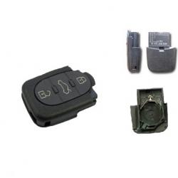 Carcasa inferior llave mandos plegable 3 botones redonda modelos tipo VAG pila 2032(grande): AUDI,SEAT, SKODA Y VOLKSWAGEN.