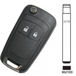 Carcasa plegable 2 botones para telemandos CHEVROLET AVEO, CRUZE, MALIBU.