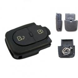 Carcasa inferior llave mando plegable 2 botones(redonda) modelos tipo VAG pila 1616 (pequeña): AUDI,SEAT, SKODA Y VOLKSWAGEN.