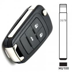Carcasa plegable 3 botones para telemando CHEVROLET AVEO, CRUZE, MALIBU.