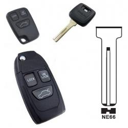 Carcasa 3 botones para mando plegable VOLVO S40,V40,S70,V70, C70.