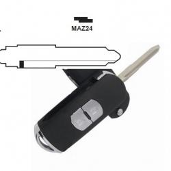 Carcasa 2 botones para llaves plegables MAZDA.Smart Key no incluido.