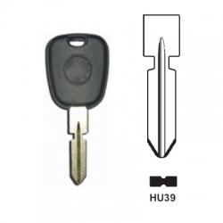 Carcasas llave fija para MERCEDES BENZ®  sin transponder. Espadín HU39.