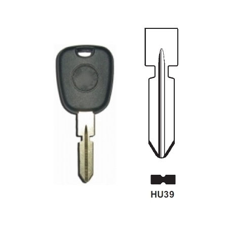 Carcasas llave fija para MERCEDES BENZ  sin transponder. Espadín HU39.
