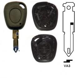 Carcasa 1 botón llave fija para RENAULT.Redonda.Modelo antiguo.