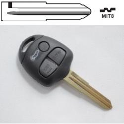 Carcasa 2+1 botones llave fija MITSUBISHI OUTLANDER, CHALLENGER, DIAMANTE, ECLIPSE.Redonda.