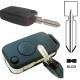 Carcasa llave mando plegable de 1 botón para MERCEDES BENZ®.Espadín perfil HU39 con 4 track.