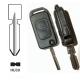 Carcasa llave mando plegable de 2 botones para MERCEDES BENZ®.Espadín perfil HU39 con 4 track.