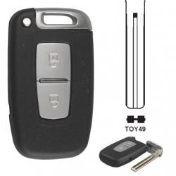 Carcasa 2 botones mando inteligente con Smart Key HYUNDAI/ KIA I20, I30, I45.