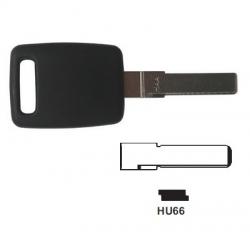 Carcasa llave fija para AUDI con espadín perfil HU66.Sin transponder.