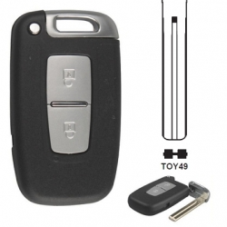 Carcasa 2 botones mando inteligente con Smart Key HYUNDAI/ KIA  RIO, SPORTAGE.