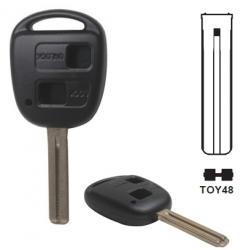 Carcasa 2 botones llave fija LEXUS.