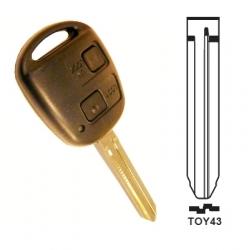 Carcasa 2 botones llave fija TOYOTA.