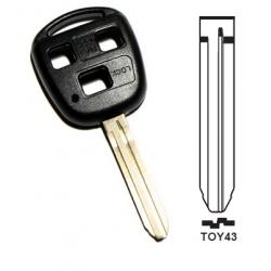 Carcasa 3 botones llave fija TOYOTA.