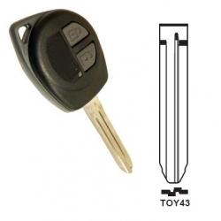 Carcasa 2 botones llave fija SUZUKI.