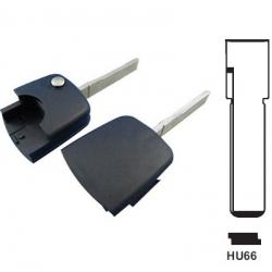 Carcasa para encastre superior llaves plegables AUDI. Sin transponder.Espadín perfil HU66.