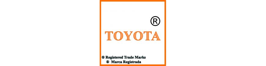 Productos y accesorios de Toyota, llaves y electrónica.